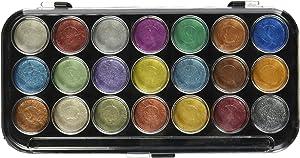 Yasutomo Paints NPWC21 Pearlescent Watercolor Set, 21-Colors, Multicolor