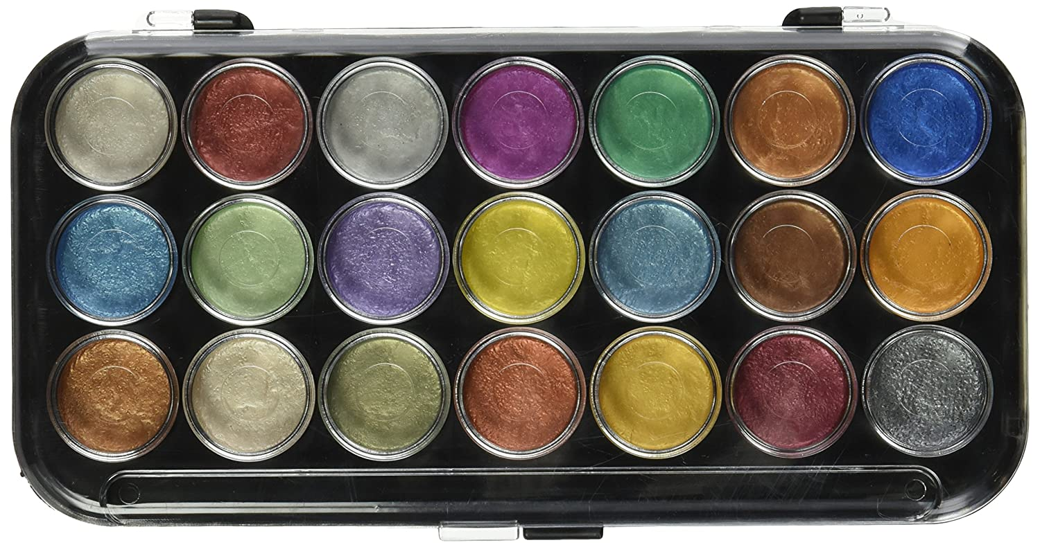 Yasutomo Pearlescent Watercolor Set, 21 Colors Assorted Colors by Amazon