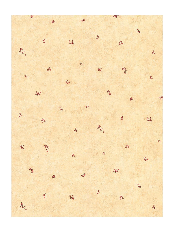 York Wallcoverings Best Of Country JN1811 Berry Spot Wallpaper, Almond