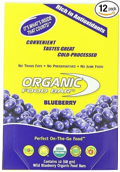Amazoncom Organic Food Bar Blueberry Pack Of 12 68 Gm Health