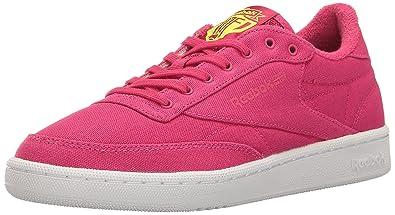 c2c36c51939b8 Reebok Women s Club C 85 EH Fashion Sneaker Pink Craze Solar Yellow White 5