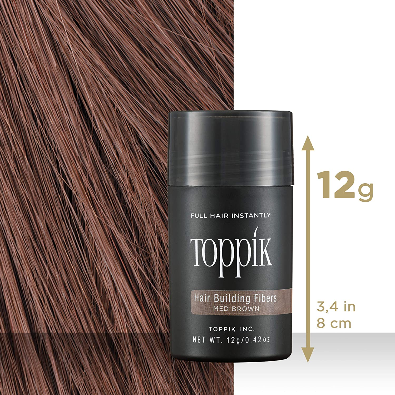 Toppik Fibras Capilares - Tamaño Normal (12g) - Color Castaño Medio: Amazon.es: Belleza