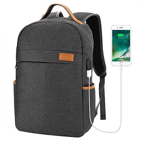 b938959b45 Lifeasy Laptop Backpack with USB Charging Port Travel Computer Bag for  Women   Men Water Resistant College School Bookbag Slim Business Backpack   ...
