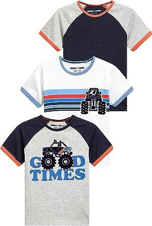next Niños Pack De Tres Camisetas De Manga Corta Raglán Monster Truck (3 Meses - 6 Años) Blanco/Azul/Gris 5-6 años: Amazon.es: Ropa y accesorios