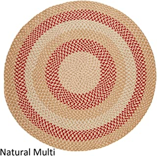 product image for Rhody Rug Mission Hill 4 ft Round Indoor/Outdoor Braided Area Rug - Made in USA Natural Multi
