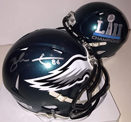 a93547d74a9 Zach Ertz Autographed Philadelphia Eagles Super Bowl 52 Mini Helmet - signed  in silver. BAS