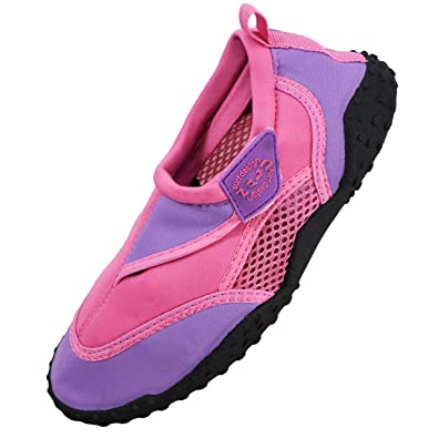 Nalu Childrens Unisex Boys Girls Aqua Shoes Beach Water Socks Velcro Sea Sandals