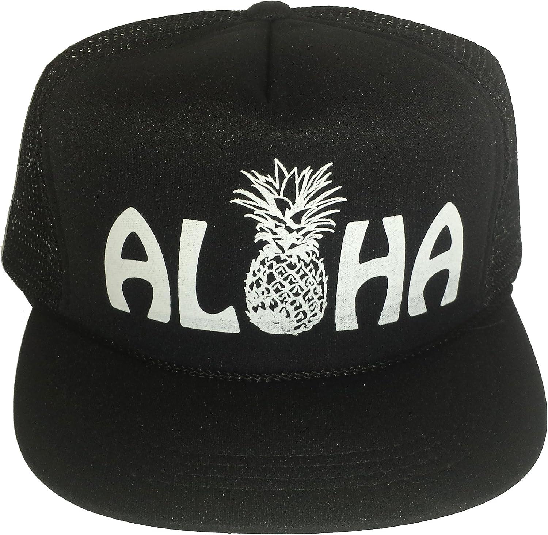 Aloha Pineapple Neon Pink Ladies  Hawaii Snapback Mesh Trucker Hat Cap
