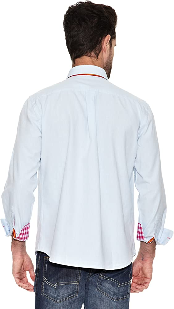 TORO Camisa Lisa Cuadros Fist Celeste M: Amazon.es: Ropa y accesorios