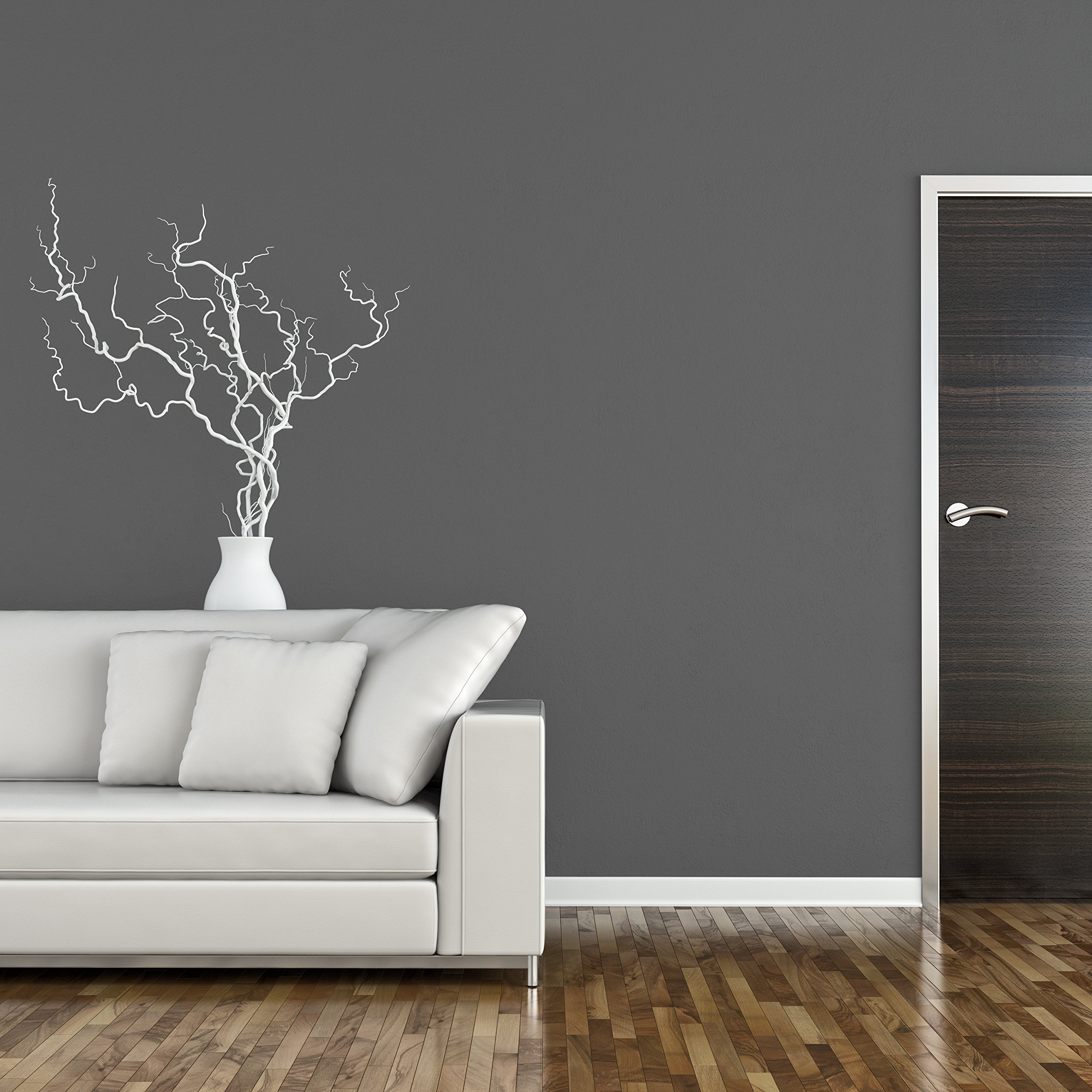 TemPaint: Removable Self-Adhesive Peel and Stick Non Woven Wallpaper Mural Wall Sticker Decals 23.6 Inches Wide by 32.2 Feet Long Roll (Portland Gray) by TemPaint (Image #4)