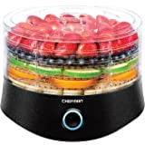 Chefman 5 Tray Round Food Dehydrator, BPA-Free Professional Electric Multi-Tier Food Preserver, Meat or Beef Jerky Maker, Fruit, Herb, Vegetable Dryer w/Dishwasher Safe Removable Trays