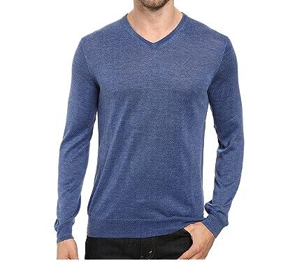 2e25a25c23e Calvin Klein Mens Merino Solid V-Neck Sweater (XX-Large