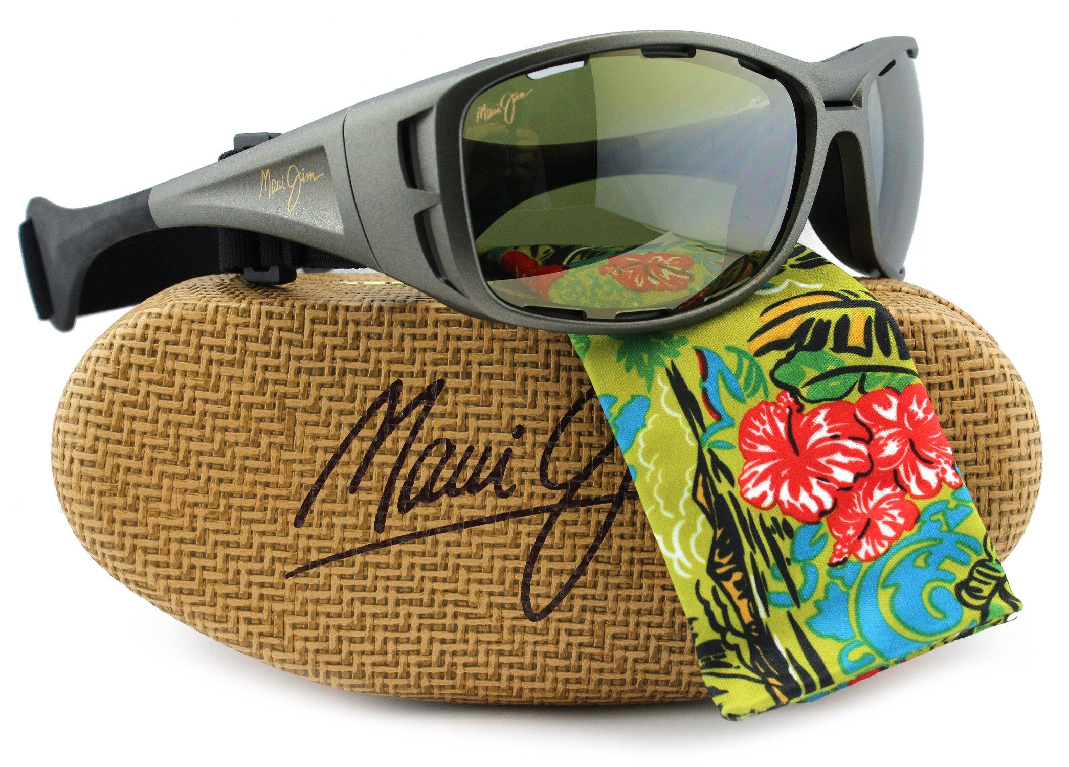 Maui Jim HT410-11B Waterman Sunglasses Titanium w/ Maui HT HT410 11B 63.5mm Authentic