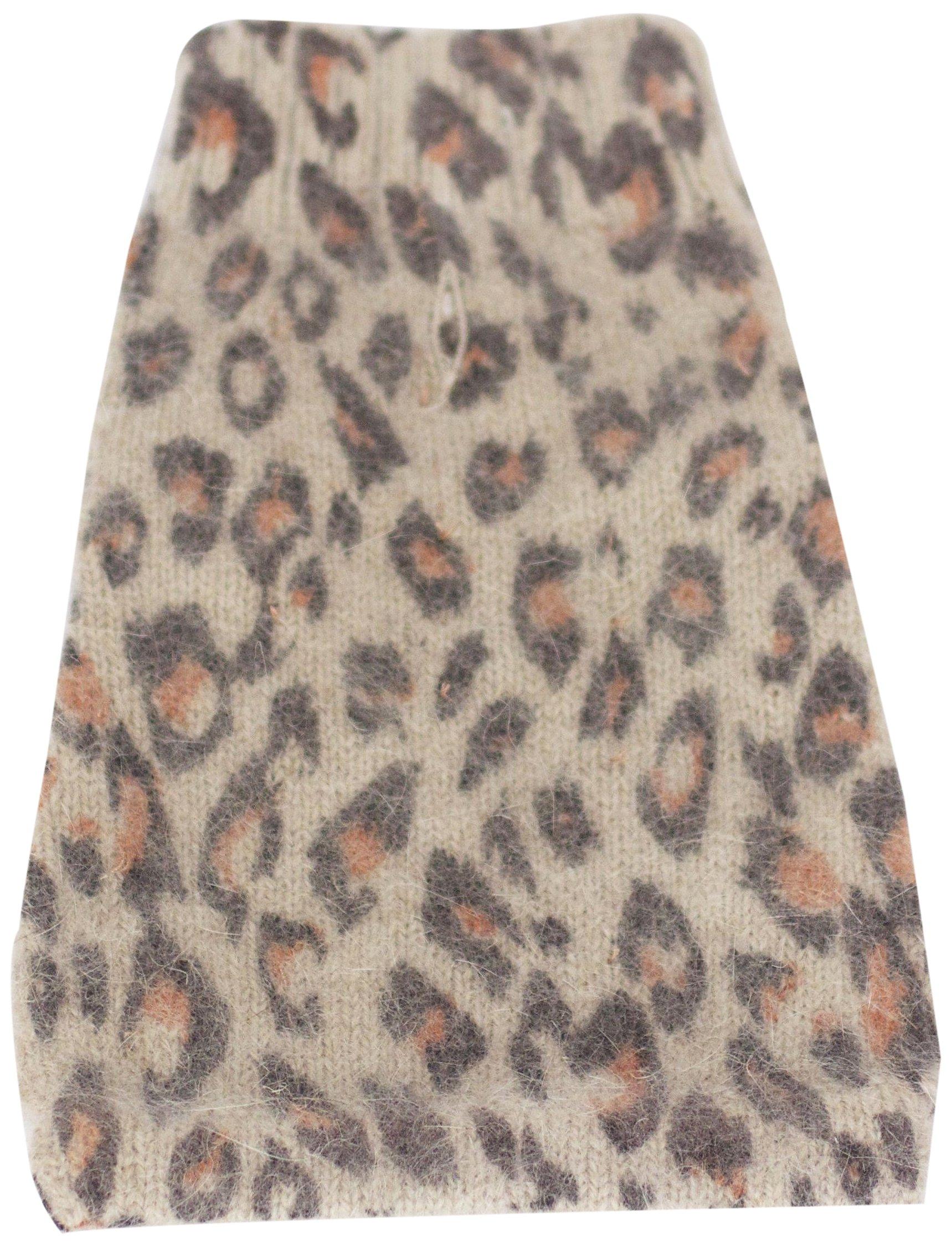 The Dog Squad Animal Instincts Mock Neck Pet Sweater, Medium, Brown Leopard