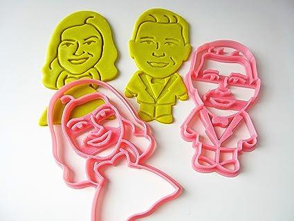 custom bride groom full body portrait cookie cutters 2 pcs set personalized