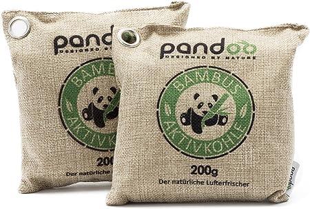 pandoo 2 x 200g Ambientador de bambú Natural con carbón Activado ...