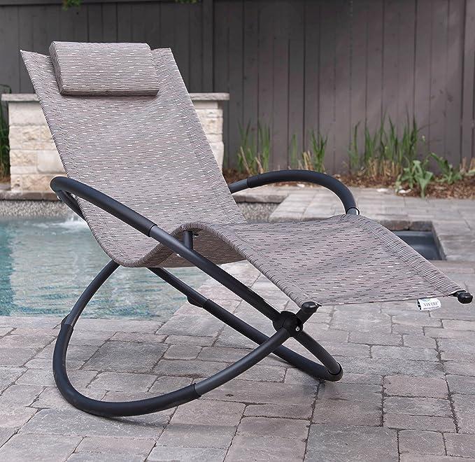 Amazon.com : Vivere Outdoor Rocking Chair, Sienna : Garden & Outdoor