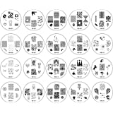 Bundle Monster 20pc Nail Art Image Manicure Stamping Plates-2014 CYO Collection