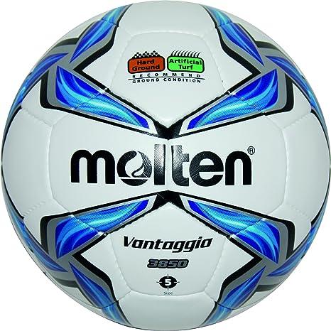 MOLTEN Fußball F5V3850 - Balón de fútbol, Color (weiß/Blau/Silber ...