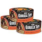 Gorilla Tape、ブラックダクトテープ、1.88インチ x 12ヤード、ブラック 3 - Pack ブラック 6001203-3 3