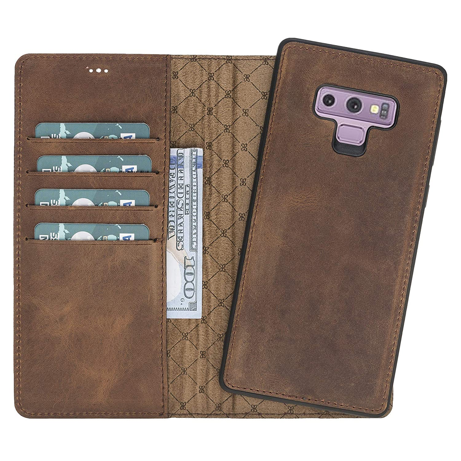 Samsung Galaxy Note 9 Leather Wallet Case, Note 9 Leather Case, Leather Galaxy Note 9 Wallet Case, Case For Samsung Galaxy Note 9, Samsung Note 9 Leather Case Wallet