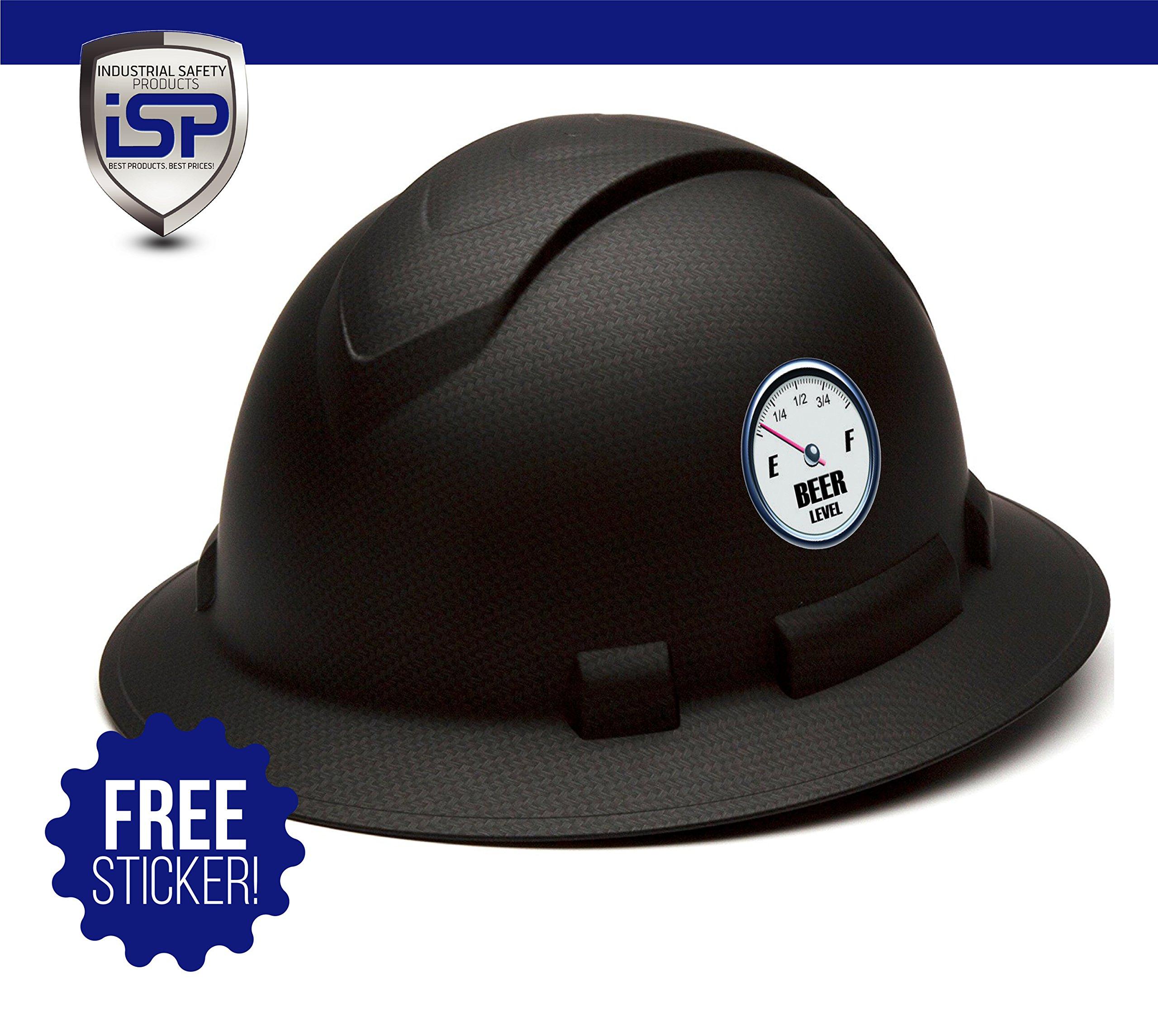 Pyramex Full Brim RIDGELINE Patterned Hard Hat with 6 Point Ratchet Suspension - Gray Graphite