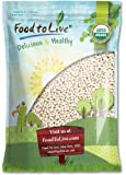 Food to Live Certified Organic Navy Beans (Dry White Small Kidney Pea Beans, Non-GMO, Bulk) (10 Pounds)