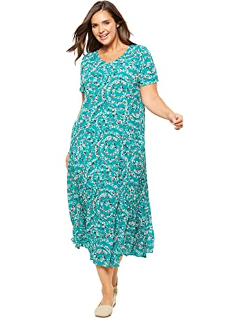 eb4c2141956b0 Woman Within Women's Plus Size Petite Crinkle Dress