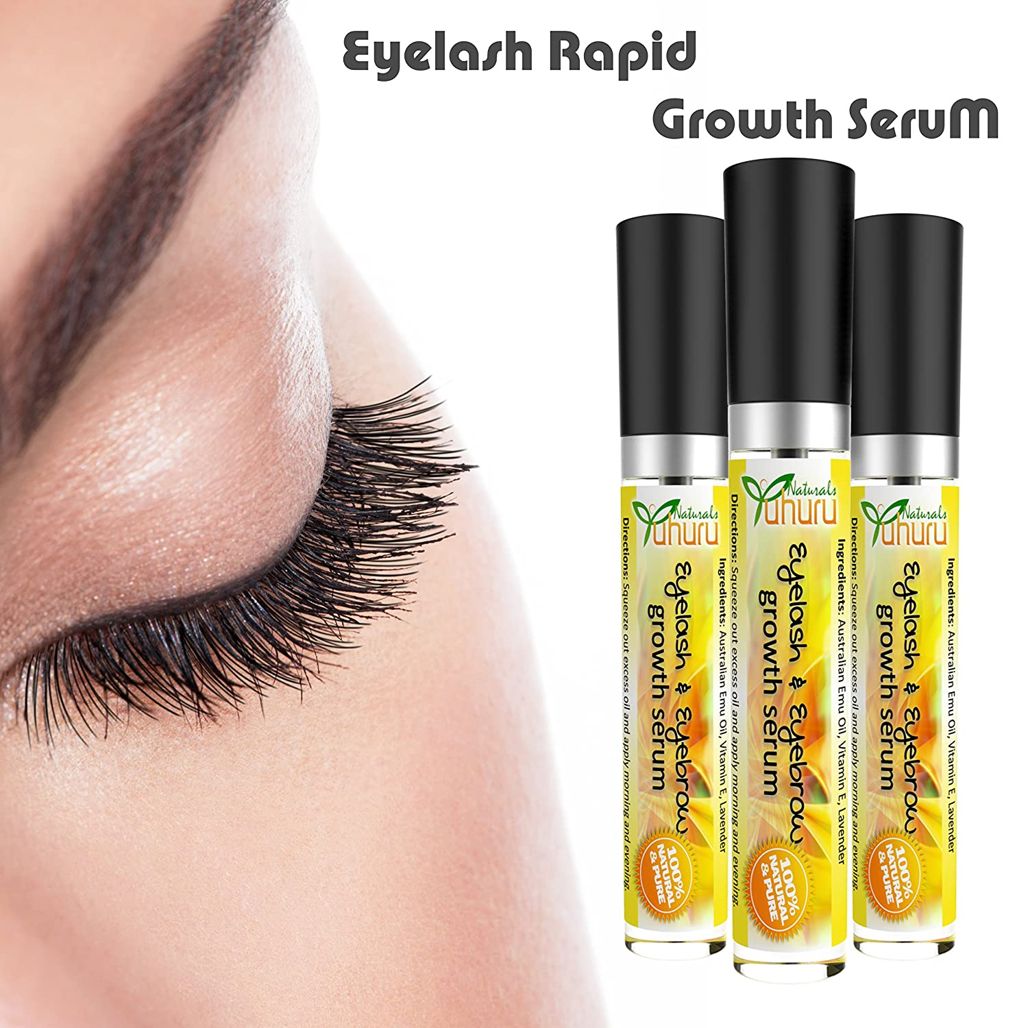 Amazon Emu Oil Eyelasheyebrow Growth For Fast Eyelasheyebrow