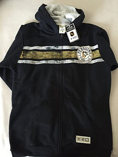 Image Unavailable. Image not available for. Color  Reebok NHL CCM Team  Classics Pittsburgh Penguins Zip Hoodie 772f0caa1