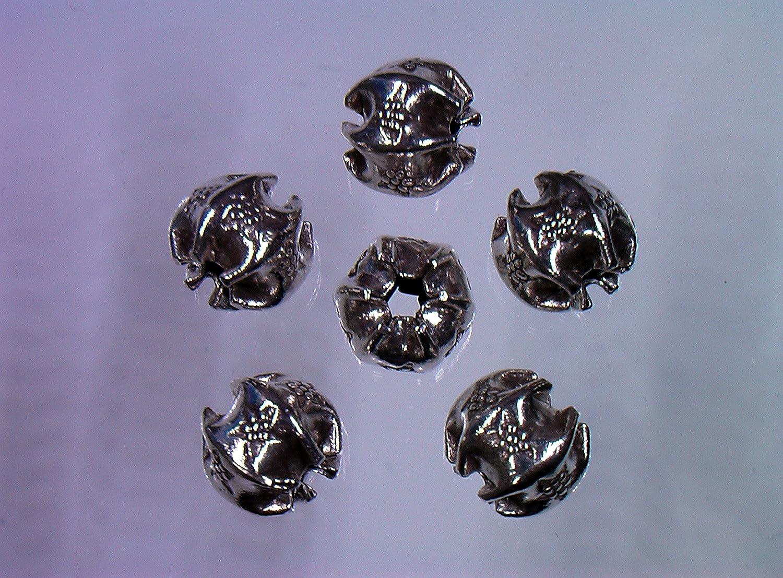【カレンシルバー ビーズ No.625 _ 100個】 SV925より高純度のシルバーを使用。カレン族伝統の手作り製品です。シルバーアクセサリー、天然石アクセサリーなど、アクセサリー製作用 の パーツ販売です。手作りアクセサリー等にご利用下さい。karen silver beads parts.   B076GYXHDJ