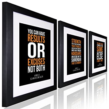 Inspirational Wall Art Arnold Schwarzenegger Quote Inspirational Quotes For  Office SET OF 3 Motivational Wall Art