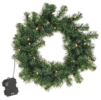 Kölle Weihnachtsdeko.Meinposten Kranz Tanne 40 Cm Led Tannenkranz Türkranz Kunststoff 100