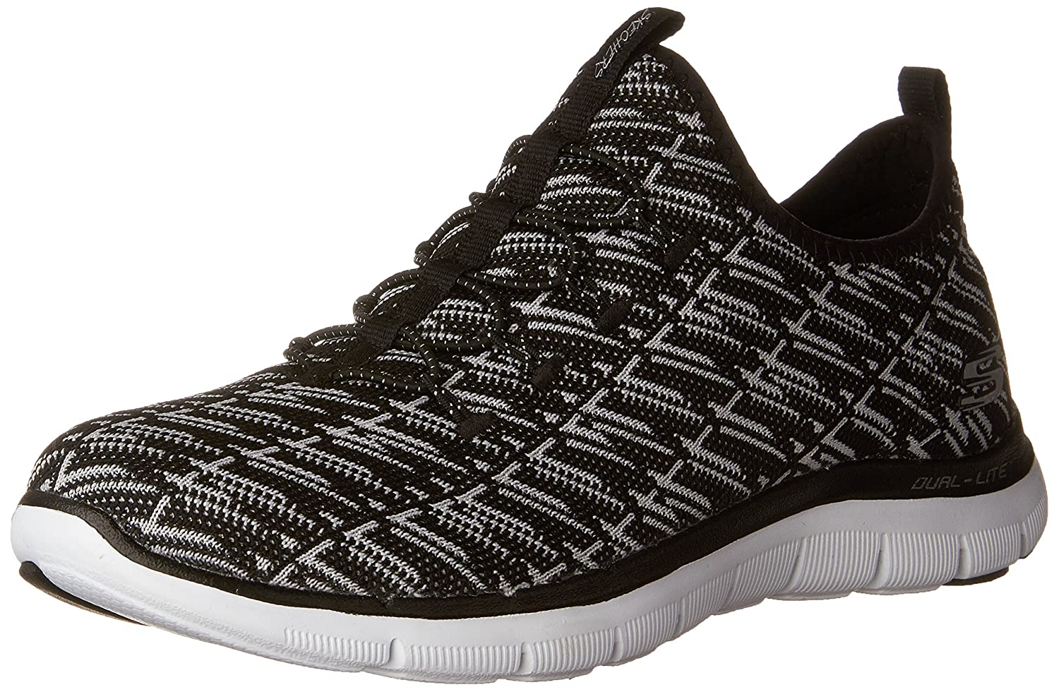Skechers Women's Flex Appeal 2.0 Insight Sneaker B01IVND7YI 9.5 B(M) US|Black/White
