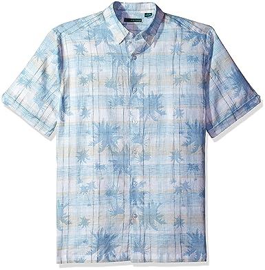 Boutonnée S Courtes Blanc Cubavera Homme Chemise Manches Taille 4AjR5L