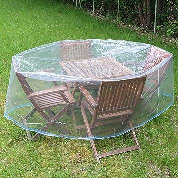 Funda para muebles de jardín (Diámetro 170 cm transparente: Amazon.es: Bricolaje y herramientas