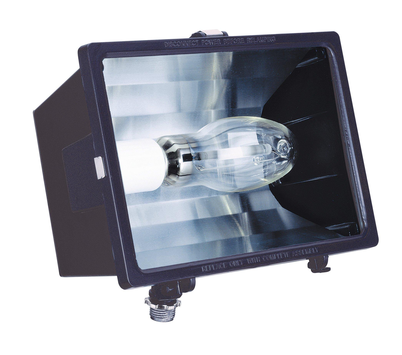 Lithonia Lighting F70SL 120 M6 70W High Pressure Sodium Micro Floodlight with Bulb, Bronze