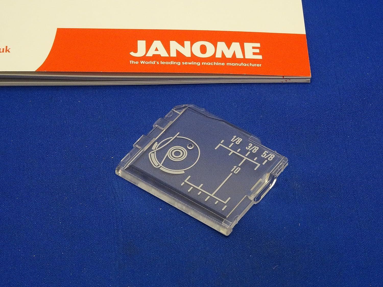 Janome auténtica Slide Plate Bobina funda Compatible con MC3000, mc3500, mc4018 8077 + más: Amazon.es: Hogar