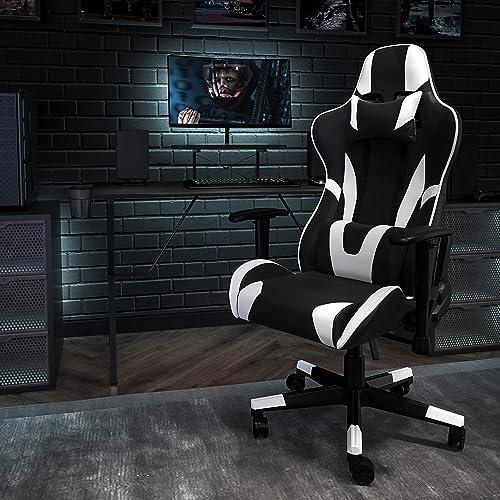 Flash Furniture Black Gaming Desk and Black Reclining Gaming Chair Set - a good cheap computer gaming chair