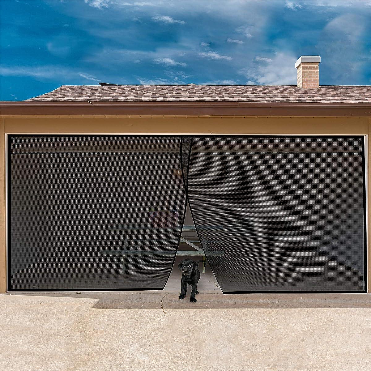 Elegant garage door screen