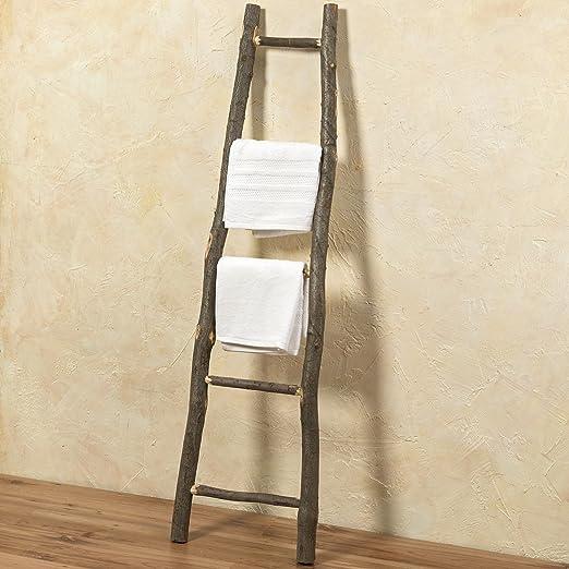 Deko Escalera Luisa 153cm marrón Toalla de manos Escalera Deko Escalera plana Ropa Escalera: Amazon.es: Hogar