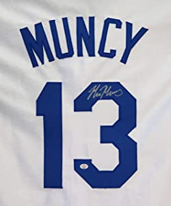 Max Muncy Los Angeles Dodgers Signed Autographed White #13 Custom Jersey PAAS COA