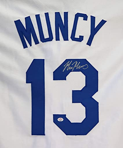 7c2e2d669d3 Max Muncy Los Angeles Dodgers Signed Autographed White  13 Custom Jersey  PAAS COA