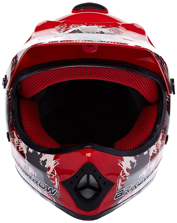 "/· Kids-Cross Helmet /· Moto-Cross-Helmet Off-Road Enduro MX Motorcycle Child /· DOT certified /· Click-n-Secure/™ Clip /· Carrier Bag /· XL 59-60cm black Armor /· AKC-49 /""Black/"""