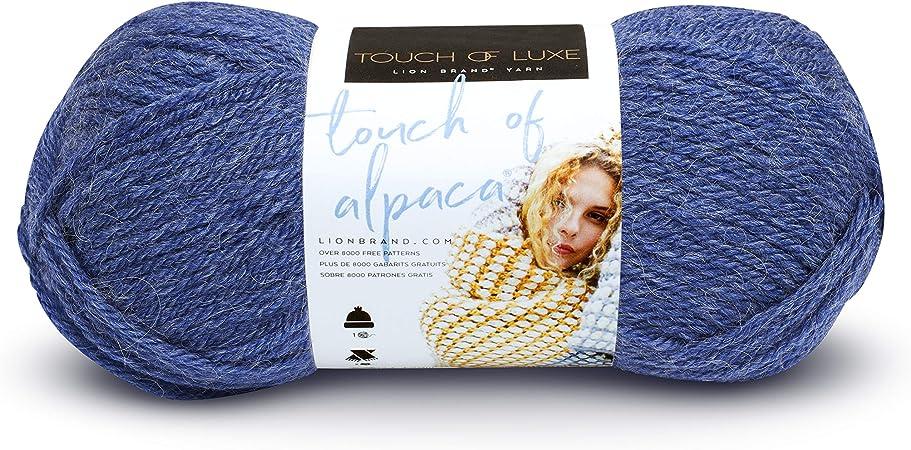 Lion Brand Yarn 674-109 Touch Of Alpaca Yarn Blue