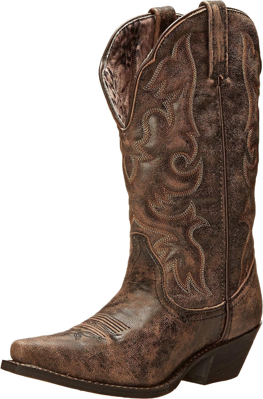 Laredo Womens Access 5% OFF Goat Snip service Toe Dress Kn Boots Western Cowboy