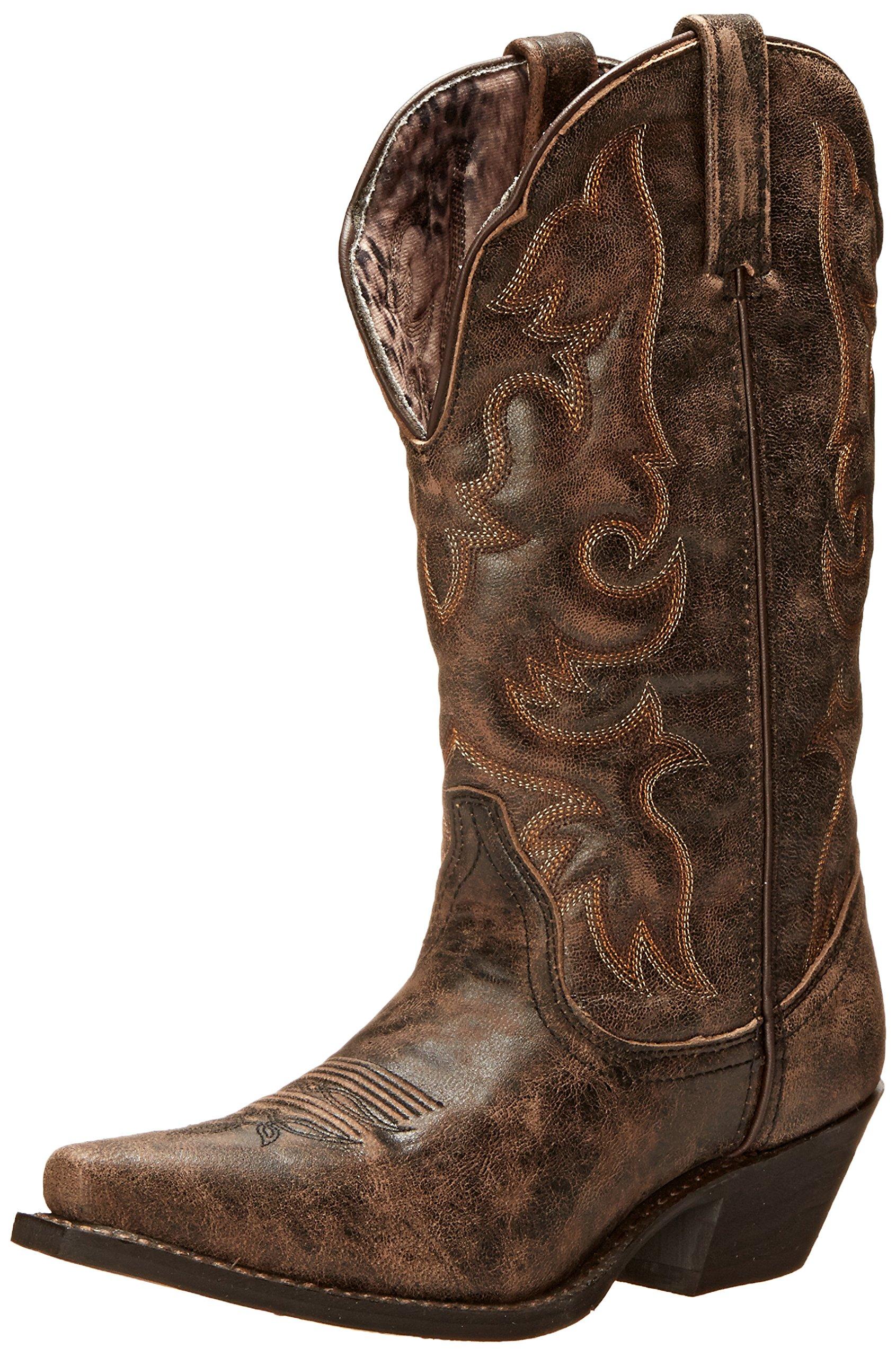 Laredo Women's Access Western Boot, Black/Tan, 8.5 M US