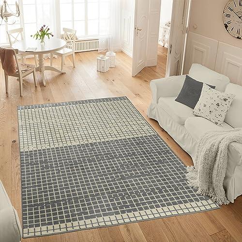 Ottomanson Studio Collection Layered Design Area Rug, 5 0 X 6 0 , Grey