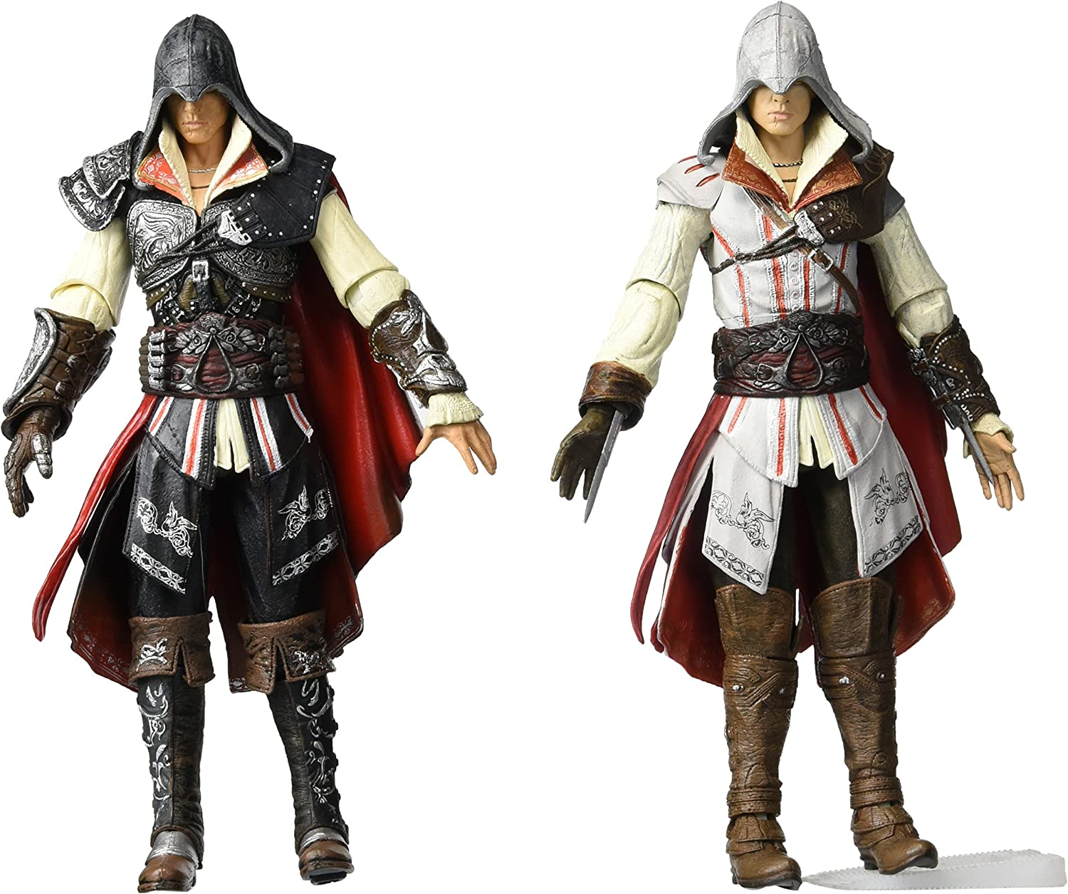Amazon Com Neca Assassins Creed 2 Series 1 Set Of Both Action Figures Ezio Black Cloak White Cloak Toys Games
