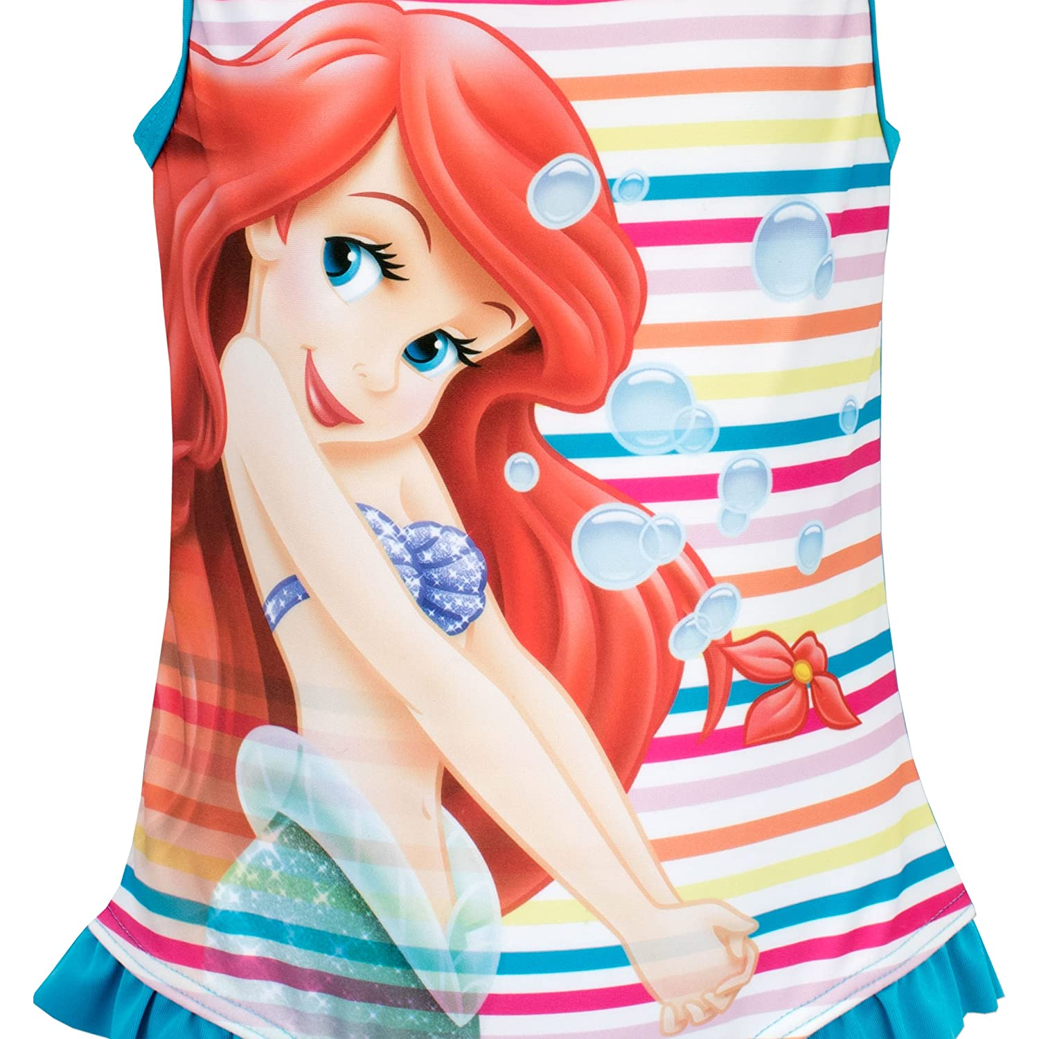 Disney Little Mermaid Girls Ariel Swimsuit Ages 18 Months to 10 Years